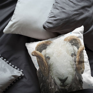 """Stanley"" The Herdwick Ram Cushion - Andy Thomas Artworks"