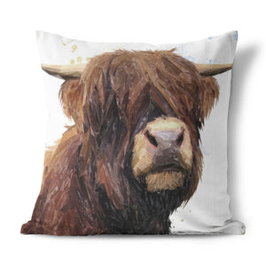 """Henry"" The Highland Bull Cushion - Andy Thomas Artworks"