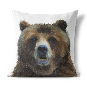 """Monty"" The Brown Bear Cushion - Andy Thomas Artworks"