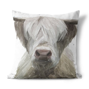 """Evan"" The Highland Bull Cushion - Andy Thomas Artworks"