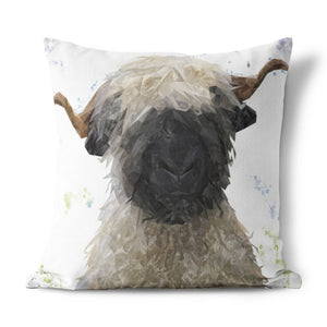 """Betty"" The Valais Blacknose Sheep Cushion - Andy Thomas Artworks"
