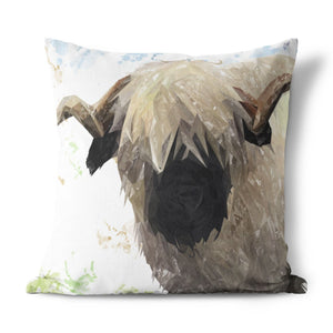 """Bertie"" The Valais Ram Cushion - Andy Thomas Artworks"