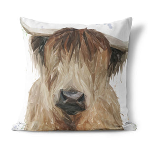 """Bernadette"" The Highland Cow Cushion - Andy Thomas Artworks"