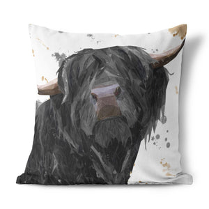 """Barnaby"" The Highland Bull Cushion - Andy Thomas Artworks"
