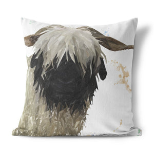 """Bertha"" The Valais Blacknose Sheep Cushion - Andy Thomas Artworks"