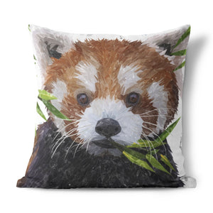 """Red"" The Red Panda Cushion - Andy Thomas Artworks"