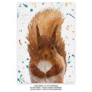 """Ellis"" The Red Squirrel Unframed Gloss Charity Print - Andy Thomas Artworks"