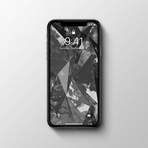 Geometric Black Phone Wallpaper - Andy Thomas Artworks