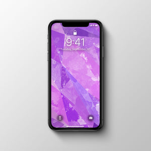 Geometric Purple Phone Wallpaper - Andy Thomas Artworks