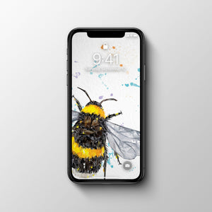 FREE! The Bee Phone Wallpaper - Andy Thomas Artworks