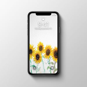 The Sunflowers Phone Wallpaper - Andy Thomas Artworks