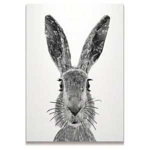 """The Hare"" (B&W) Mini Canvas Print - Andy Thomas Artworks"