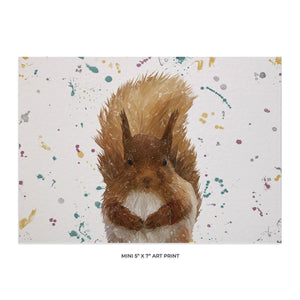 """Ellis"" The Red Squirrel Landscape 5x7 Mini Print - Andy Thomas Artworks"