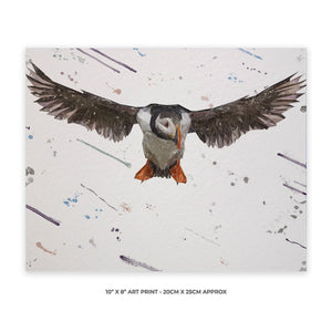 """Frank"" The Puffin 10"" x 8"" Unframed Art Print - Andy Thomas Artworks"