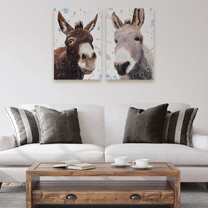 """Conka & Daphne"" The Pair - 2 X Medium Canvas Prints - Andy Thomas Artworks"