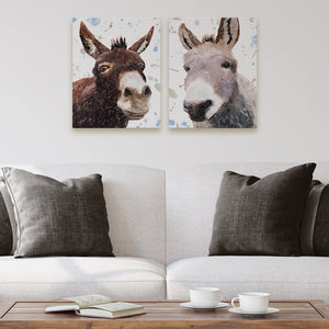"""Conka & Daphne"" The pair - 2 X Small Canvas Prints - Andy Thomas Artworks"