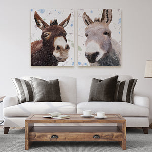 """Conka & Daphne"" The pair of Donkeys - Large Canvas Prints - Andy Thomas Artworks"