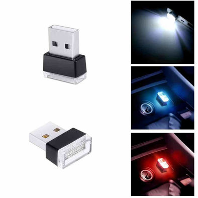 1 Piece Car USB LED Atmosphere Lights Decorative Lamp Emergency Lighting Universal PC Portable Plug and Play Red/Blue/White