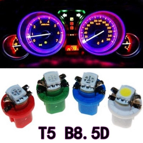 10Pcs B8.5D 509T B8.5 5050 Led 1 SMD T5 Lamp Car Gauge Speedo Dash Bulb Dashboard instrument Light Wedge Interior Lamp 10X