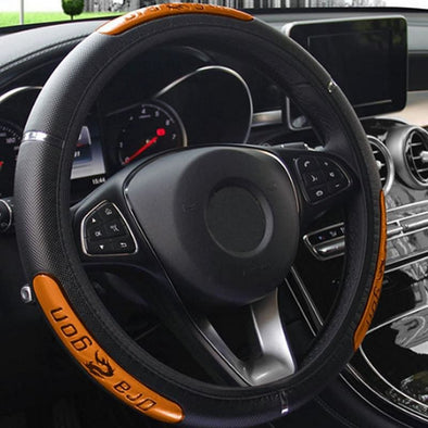 38CM Auto Car Steering Wheel Cover Anti-catch Holder Protector China Dragon Design Fashion Sports Style Car Interior Accessories