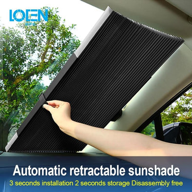 46CM/65CM/70CM/80CM Upgarde Retractable SUV Truck Car Front Windshield Sunshade Rear Window Sun Visor UV Protection Curtain