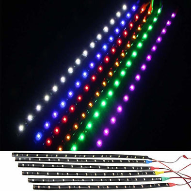 Waterproof Car Auto Decorative Flexible LED Light Strip 12V 30cm 15SMD Car LED Daytime Running Light Car LED Strip Light DRL