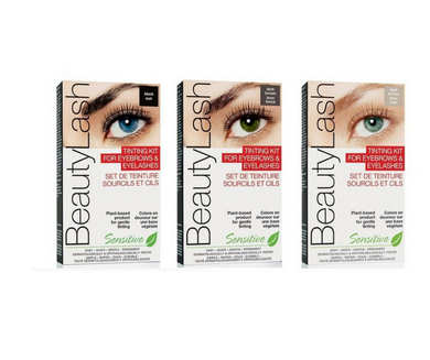 BeautyLash Tinting Kit for Brows and Lashes - DARK BROWN