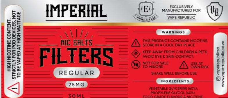 Filters by Imperial salt
