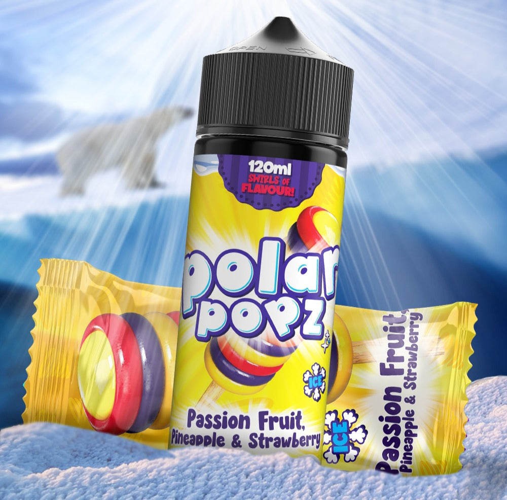 Polar popz Passion fruit , pinapple and strawberry