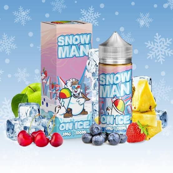 Snow Man on ice nic salts