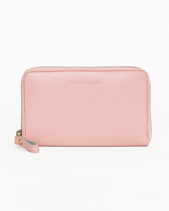 Medium Zip Wallet Blush