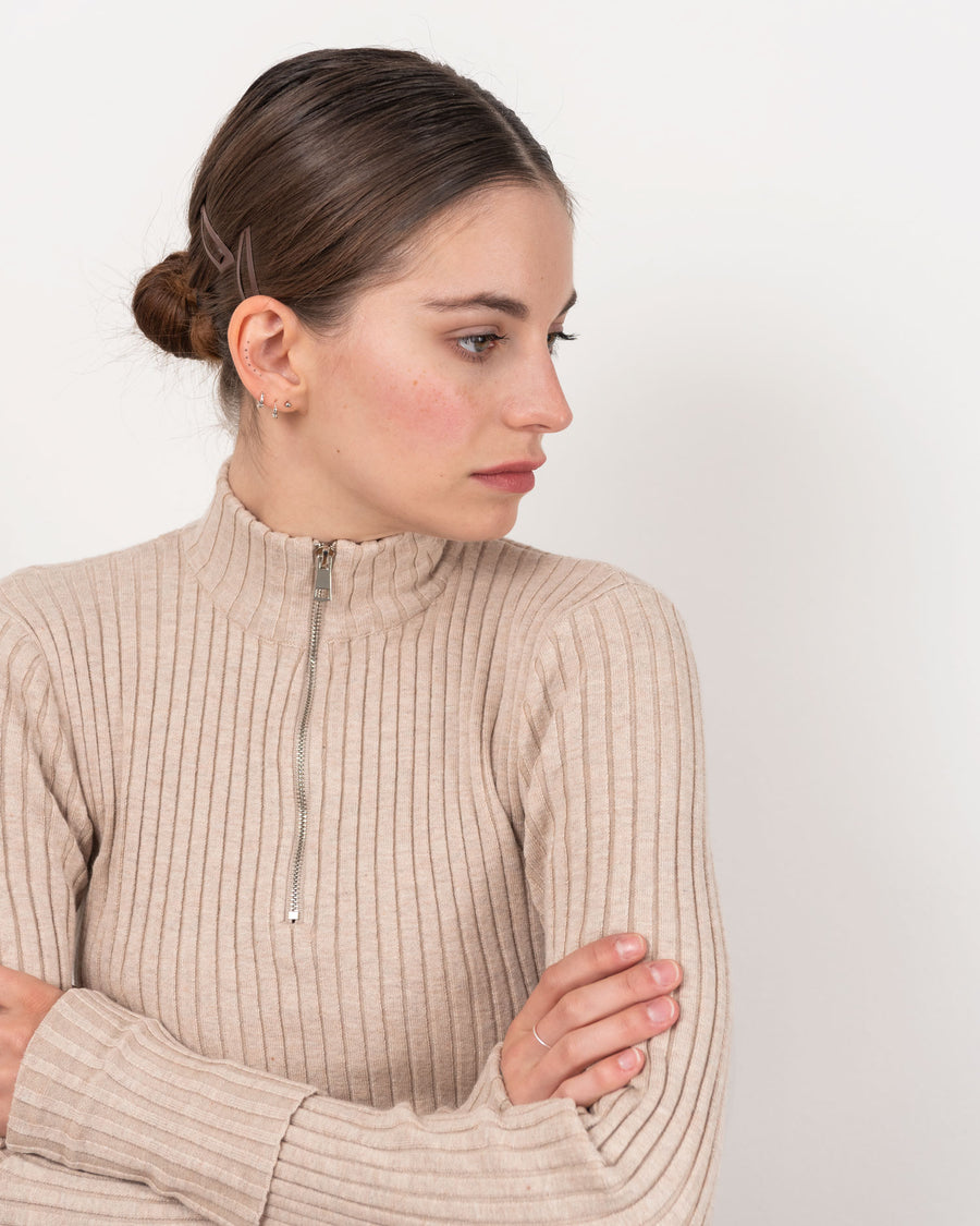 Alison Long Sleeve Pullover - Beige