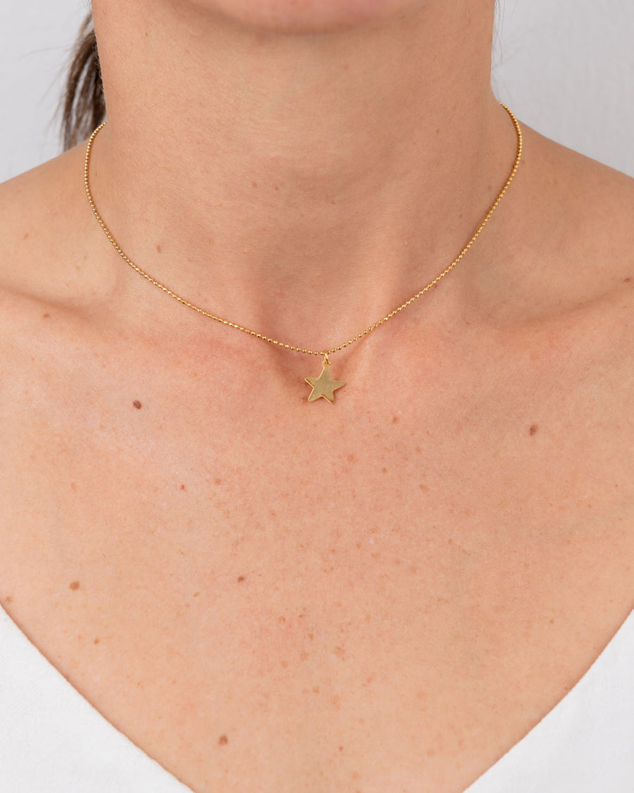 Gold-Plated Choker With Star