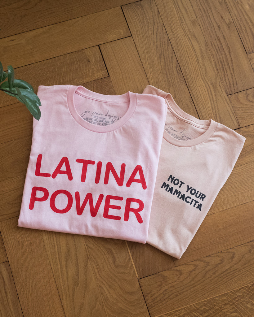 Latina Power Tee - Soft Pink