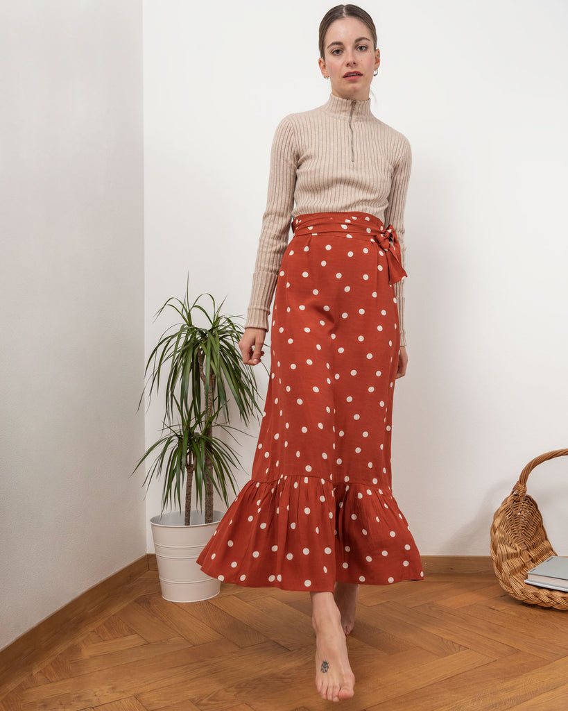 Ilsa Skirt - Rust