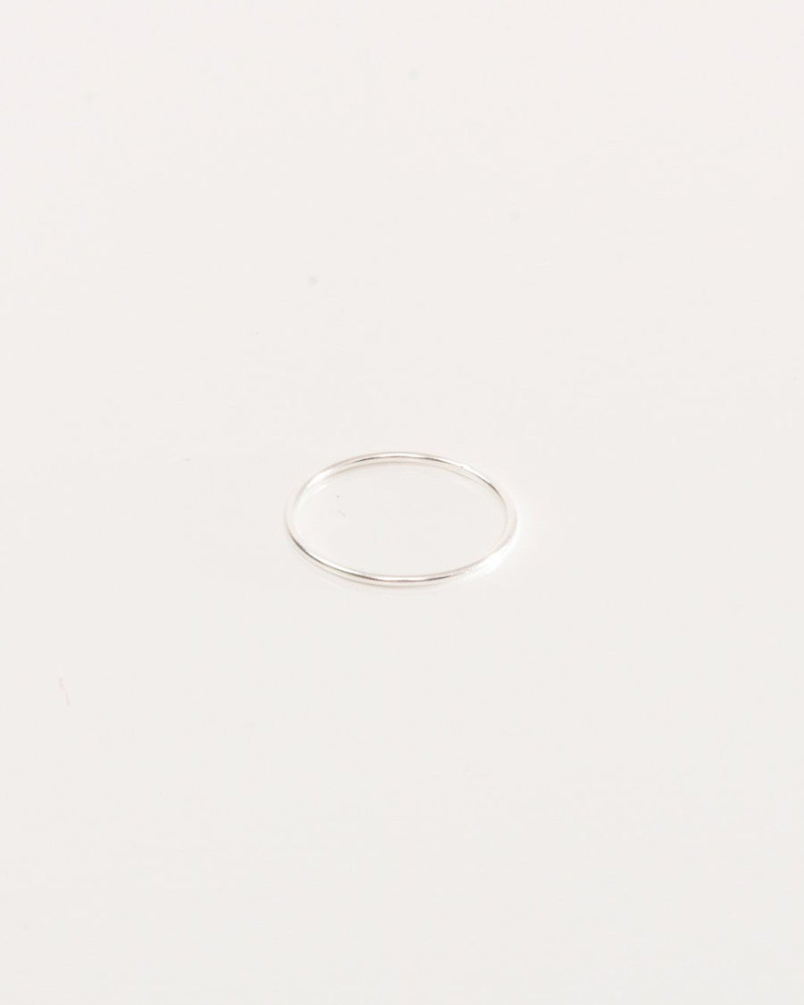 Thin sterling silver ring