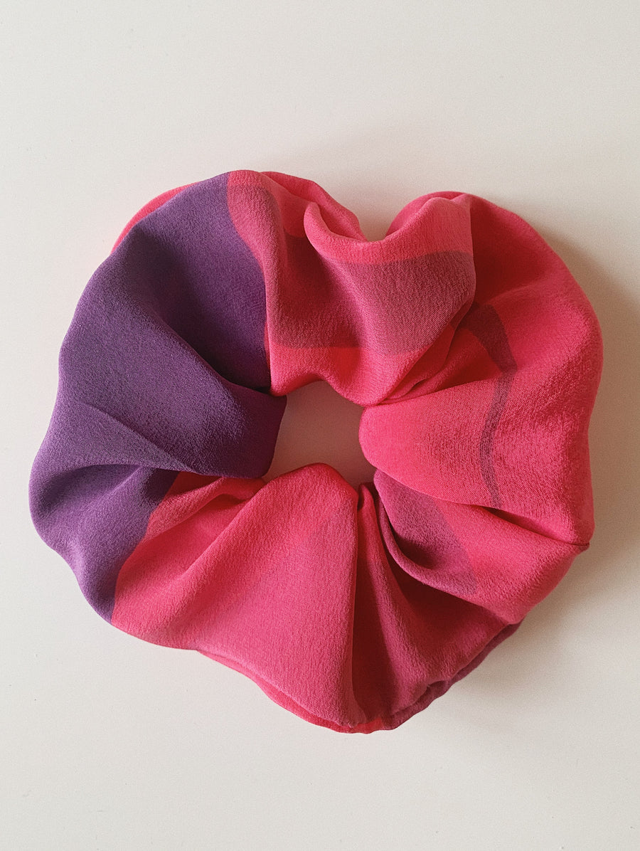Pure Silk Scrunchie - Watercolor 2