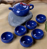 Elegant Glazed Ceramic Tea Set