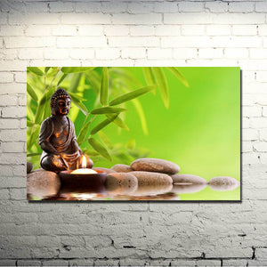 Buddhist Pond Silk Wall Art