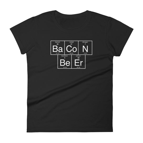Bacon & Beer Periodic - Women's short sleeve t-shirt