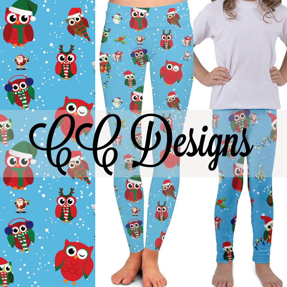 Christmas Owl Leggings | Plum Hanger