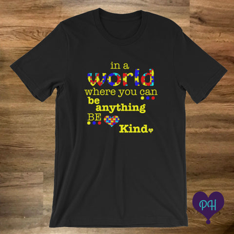 Autism Awareness T-shirt in black | Plum Hanger