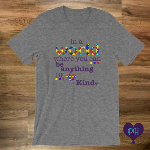 Autism Awareness T-shirt in deep heather | Plum Hanger