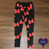 Red Bows leggings | The Plum Hanger