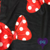 Close up of Red Bows leggings | The Plum Hanger
