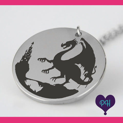 Dragon Ruler necklace in stainless steel | Plum Hanger