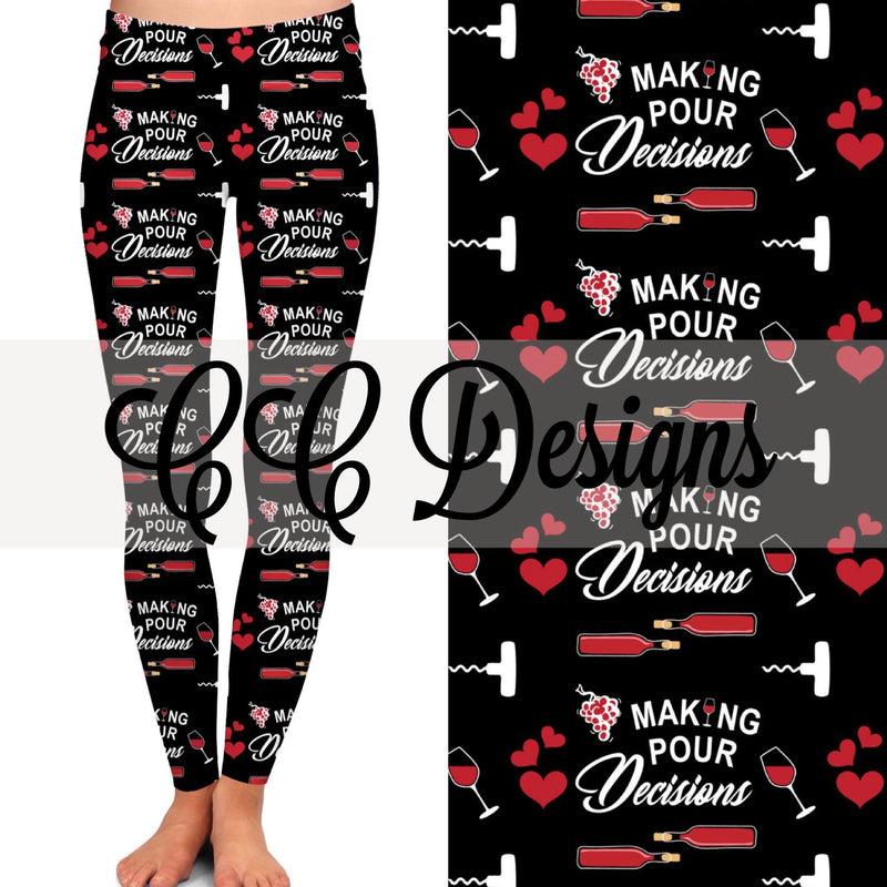 Making Pour Decisions leggings | Plum Hanger