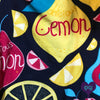 Close up of Lemon Squeeze legging print | Plum Hanger