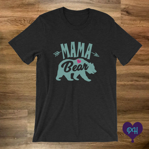 Mama Bear T-Shirt in Black Heather | Plum Hanger