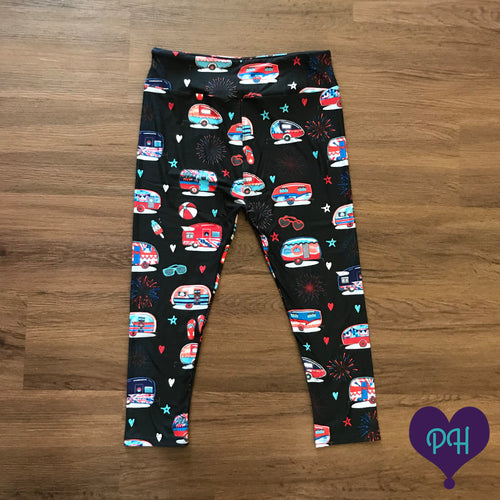 Patriotic Capri Campers Leggings | Plum Hanger